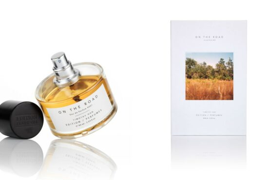 Cedric Christie photographs adorn the packaging for a new Timothy Han fragrance 'On The Road'