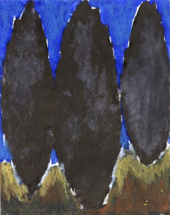 Untitled (Three black trees against a Blue Sky)