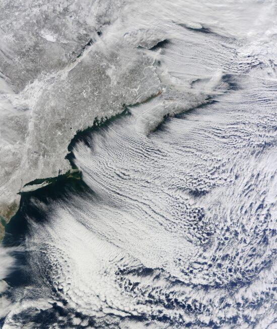 North Atlantic Clouds, Terra, January 24, 2011