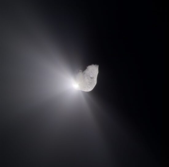 Comet Tempel 1 After Projectile Impact (Near View), Deep Impact, July 4, 2005