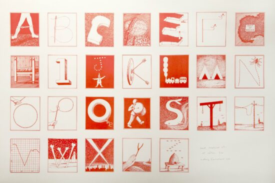 Secret Alphabet No. 1 (Red)