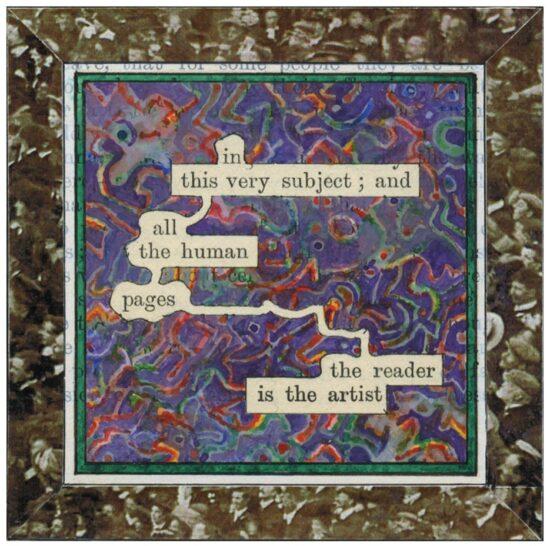 Humument Fragment: Readers (Vintage People on Photo Postcards)