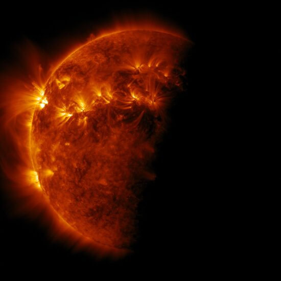 Eclipse of the Sun by Earth, Solar Dynamics Observatory, April 2, 2011