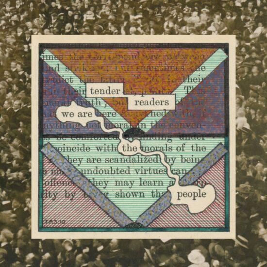 Humument Fragments: Readers (Vintage People on Photo Postcards)