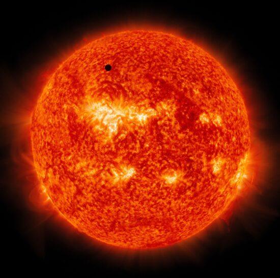 Mercury Transits the Sun, Solar Dynamics Observatory, June 5, 2012