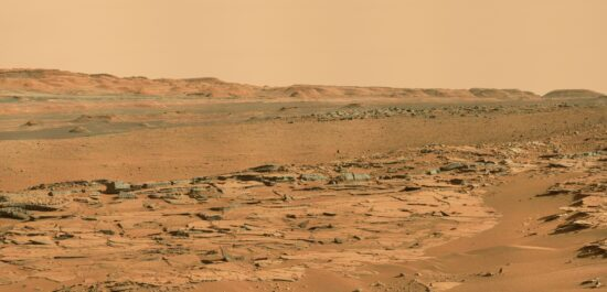 Gale Crater Landscape, Curiosity Rover, May 4, 2014