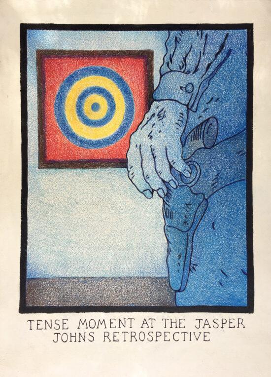 A Tense Moment at the Jasper Johns Retrospective