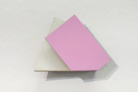 Pink White Postcard