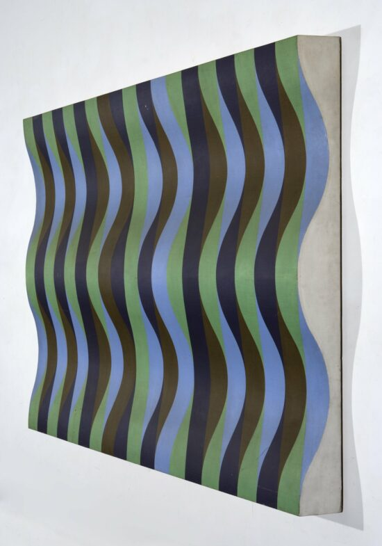 Blue, Green, Violet and Brown Relief