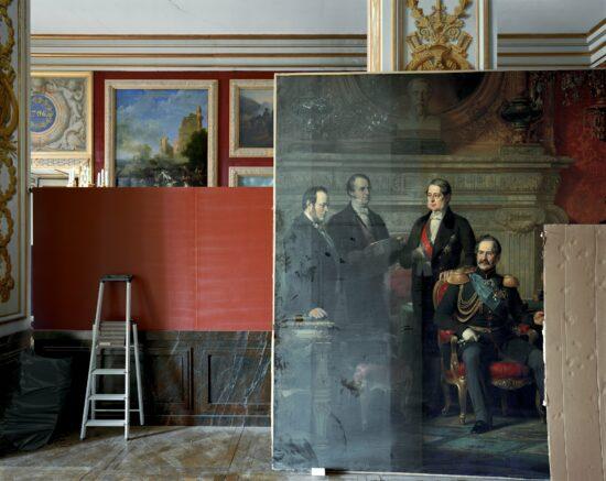 Le Congrès de Paris, by Edouard Dubufe, 1856. Salle 67, Salles Empire, Aile du Midi – R.d.C.