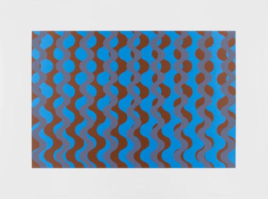 Blue Grey Brown Wave