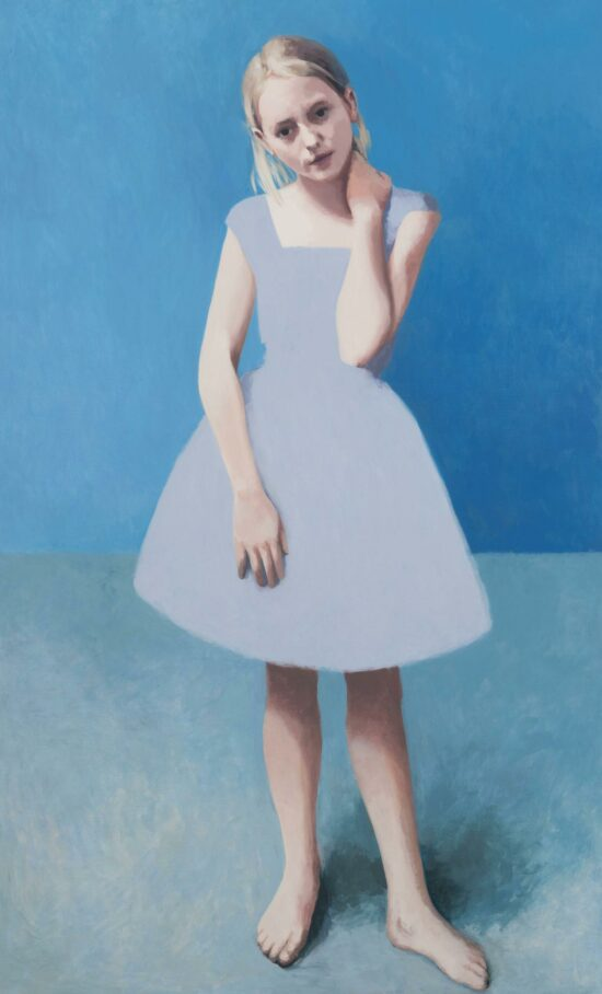 Summer Painting, Girl With Pale Hair