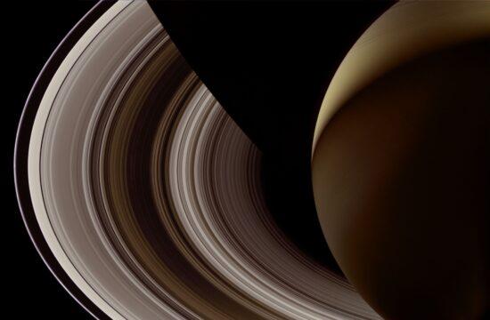 Night Side of Saturn, Cassini, October 28, 2006
