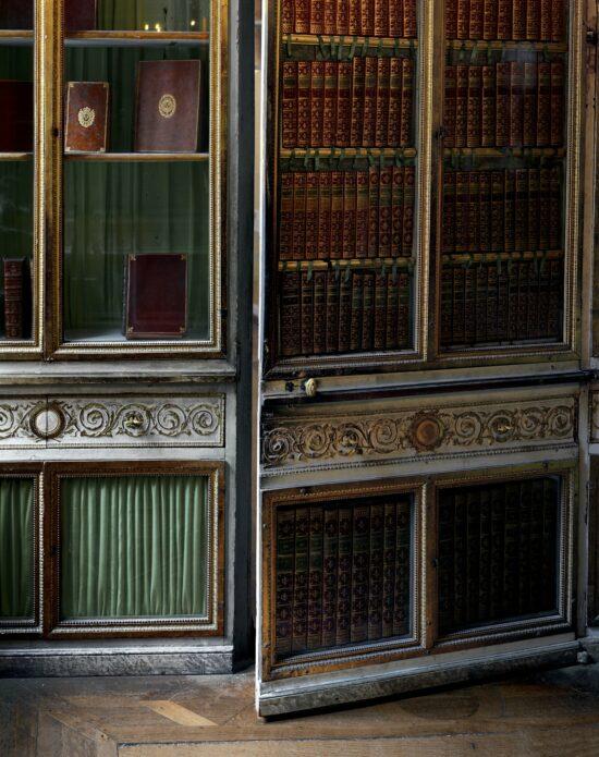 Door detail, bibliothèque de la Reine, Corps Central - 1er étage.