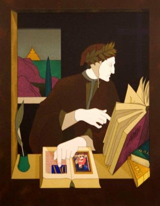 Dante in his Study