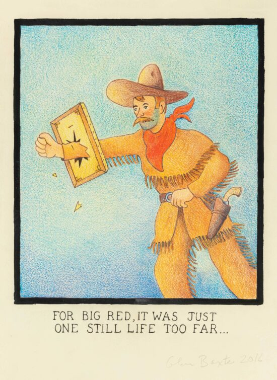 For Big Red, It Was Just One Still Life Too Far