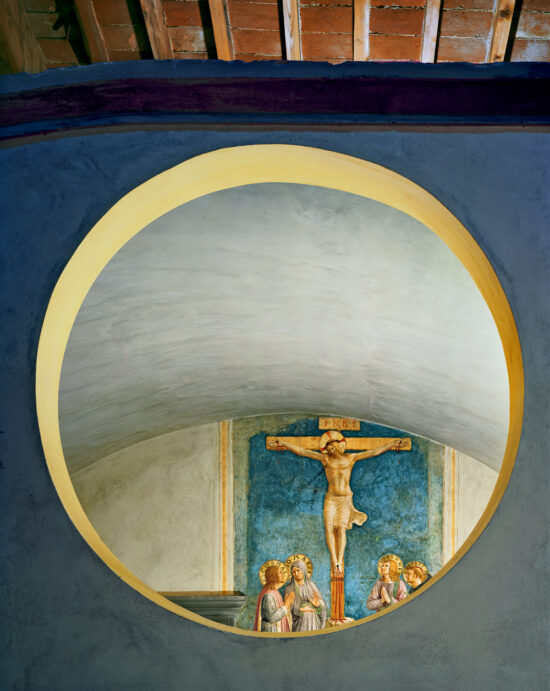 Crucifixion with the Virgin and Saints Cosmas, John the Evangelist and Peter Martyr by Fra Angelico, Florence, Italy