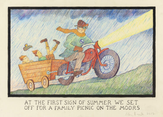 At The First Sign Of Summer We Set Off For A Family Picnic On The Moors
