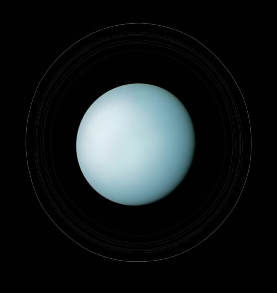 Uranus with Rings, Voyager 2, January 24, 1986