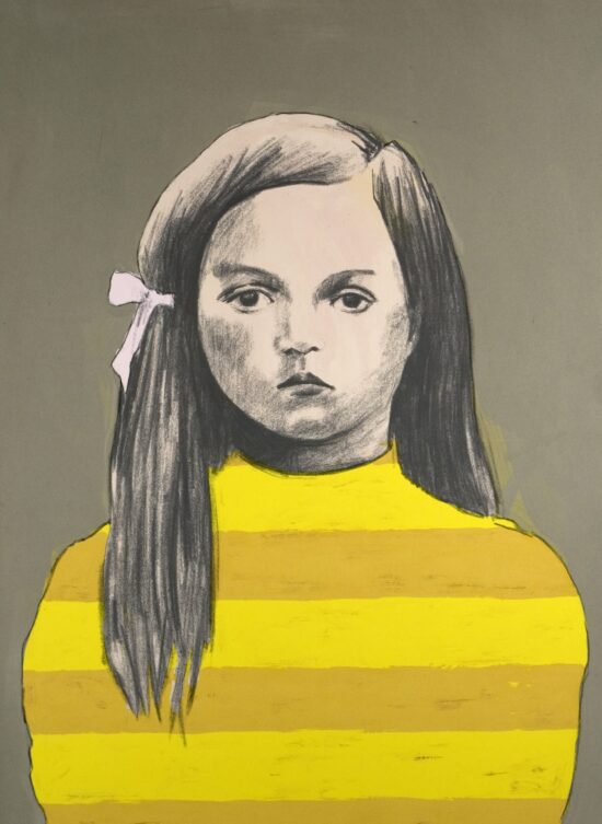 Girl 3, Yellow Stripes
