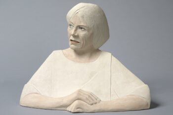 Ceramic bust of Joan Bakewell by Glenys Barton unveiled at National Portrait Gallery, London