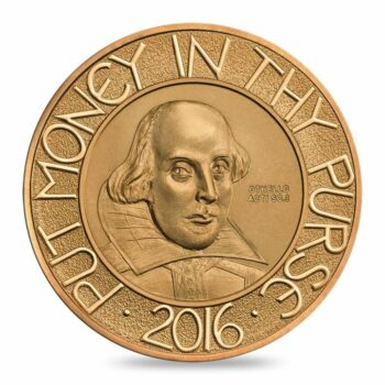 Tom Phillips RA designs commemorative Shakespeare coin for The Royal Mint