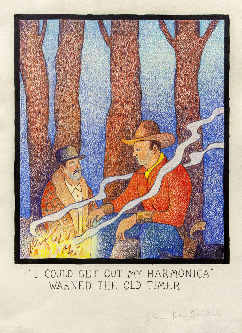 """""""I could get out my harmonica"""" warned the old timer"""