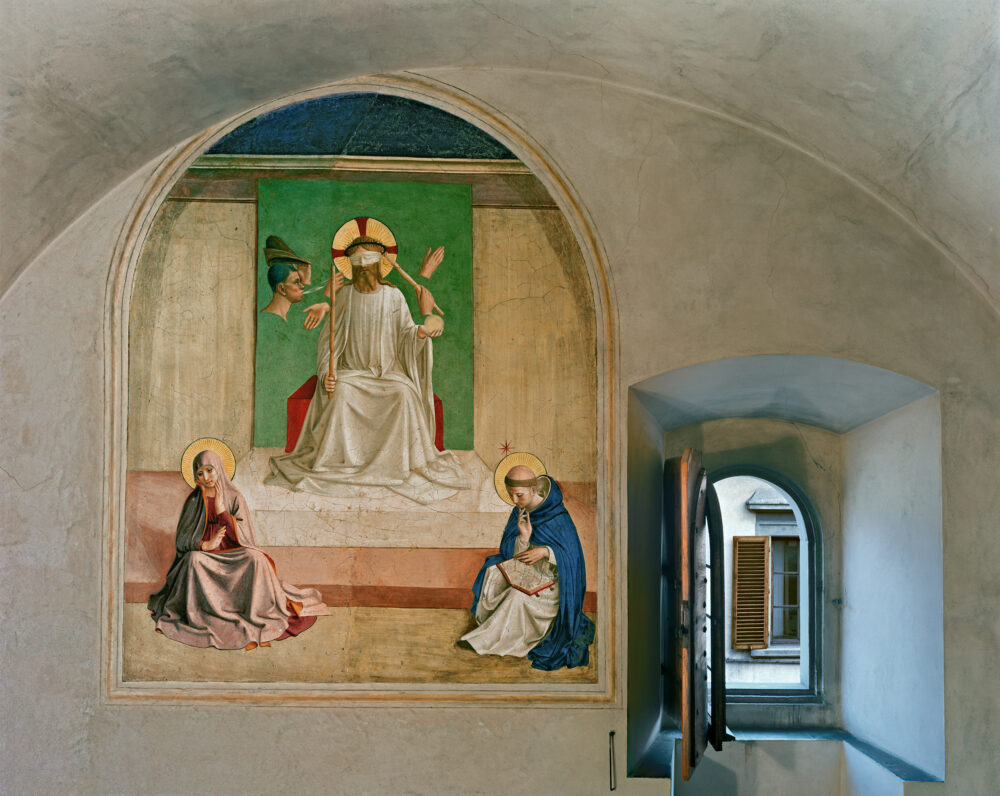 The Mocking of Christ by Fra Angelico, Cell 7, Museum of San, Marco Convent, Florence, Italy