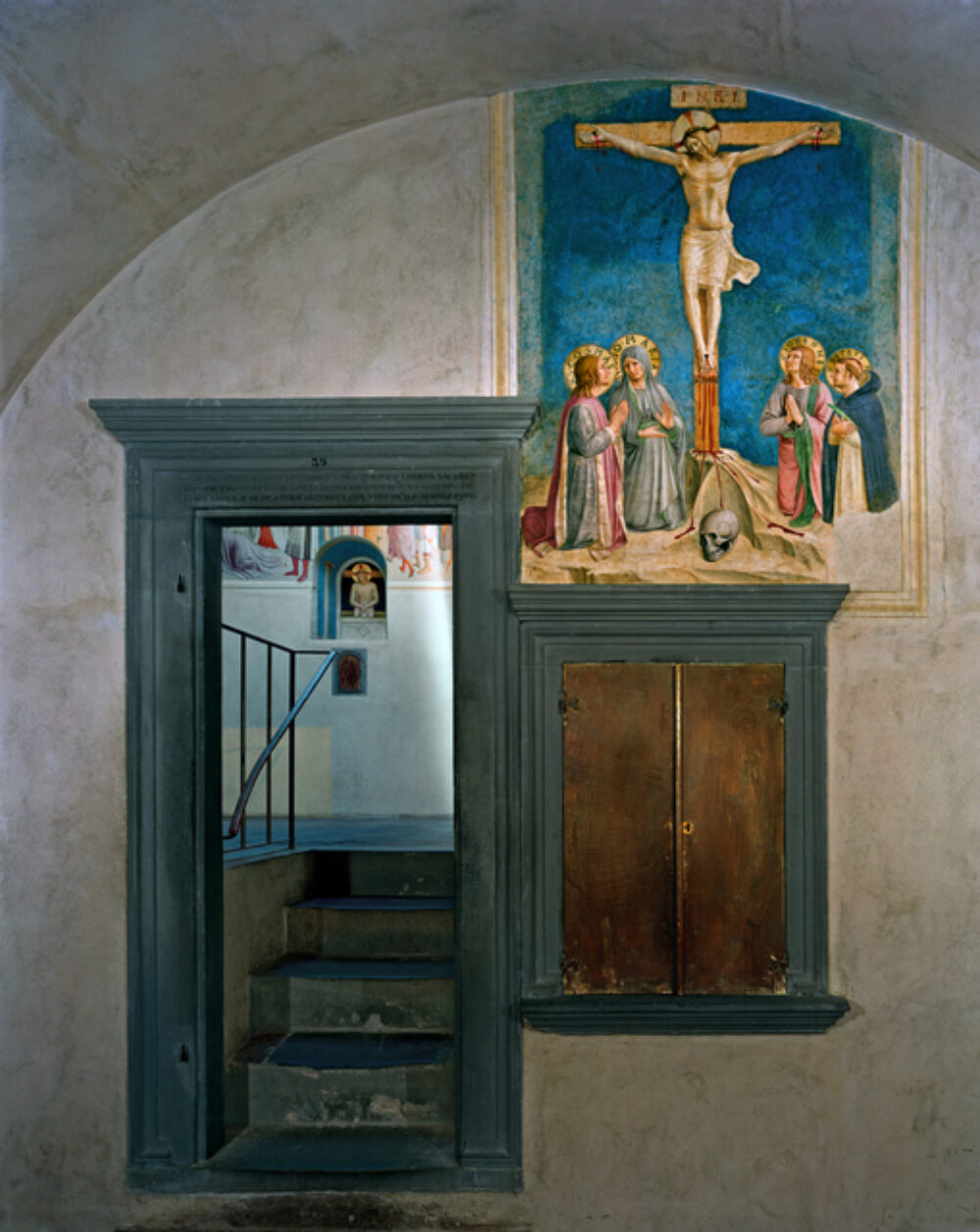 Crucifixion with the Virgin and Saints Cosmas, John the Evangelist and Peter Martyr by Fra Angelico