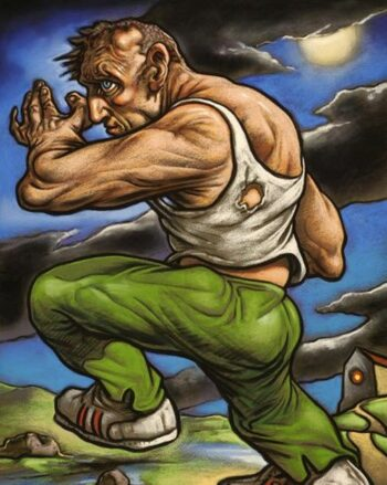 Peter Howson's new work 'From Death to Life' on display