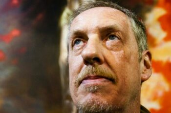 Painting of Christ's crucifixion by Peter Howson goes on display in Glasgow